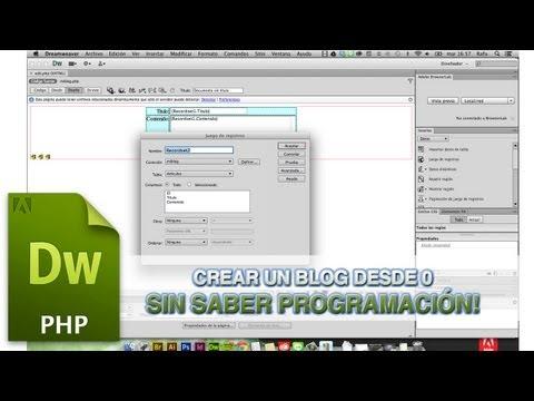 Tutorial Dreamweaver // Crear blog sin saber programar by @conecta