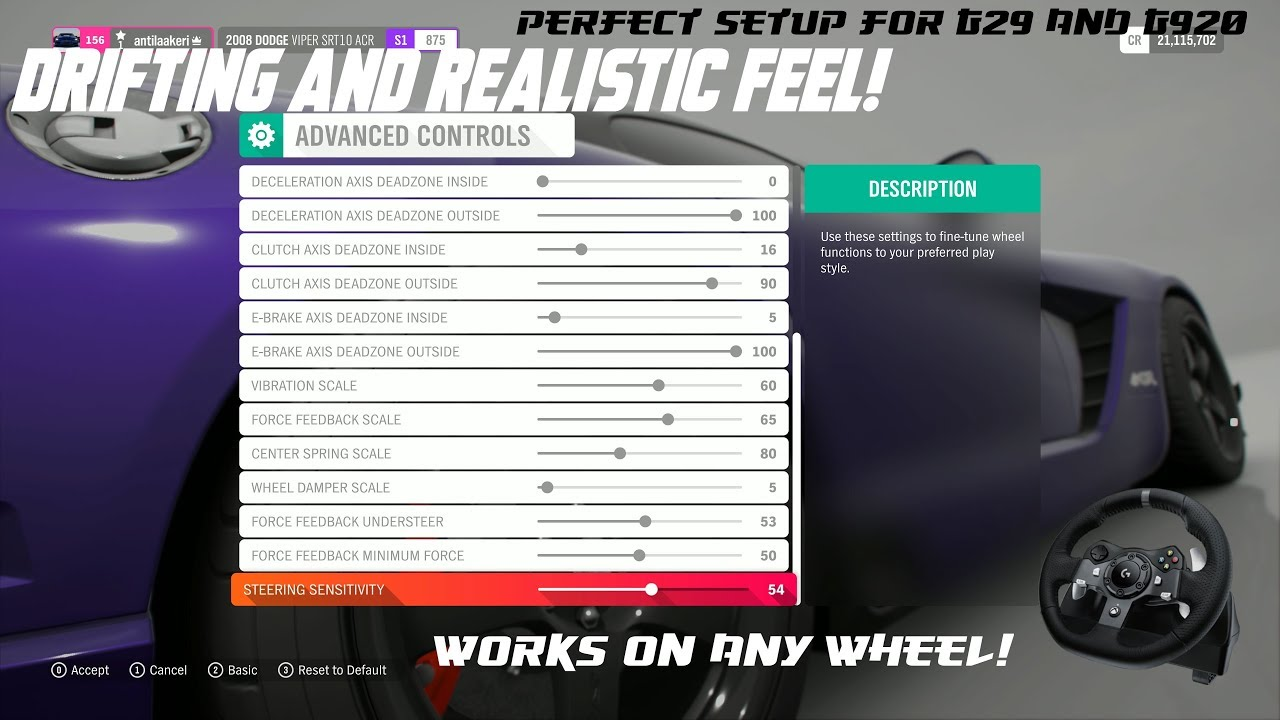 Forza Horizon 4 Best Force Feedback Setup For Logitech G920/G29 Drifting/  Realistic