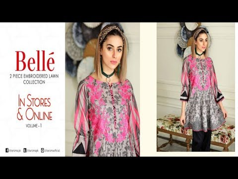Latest Charizma Belle 2 Piece Embroidered Lawn Collection