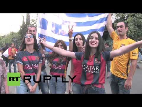 Georgia: 50,000 football fans gather in Tbilisi for Super Cup