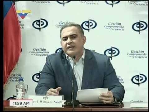 Rueda de prensa del Fiscal Tarek William Saab, 11 de agosto de 2017