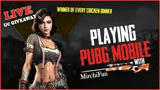 Free UC Giveaway | Pubg Mobile Live Stream 2019 With MirchiFun | Custom Room