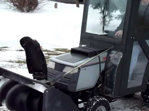 Craftsman Riding Mower Snowblower Youtube
