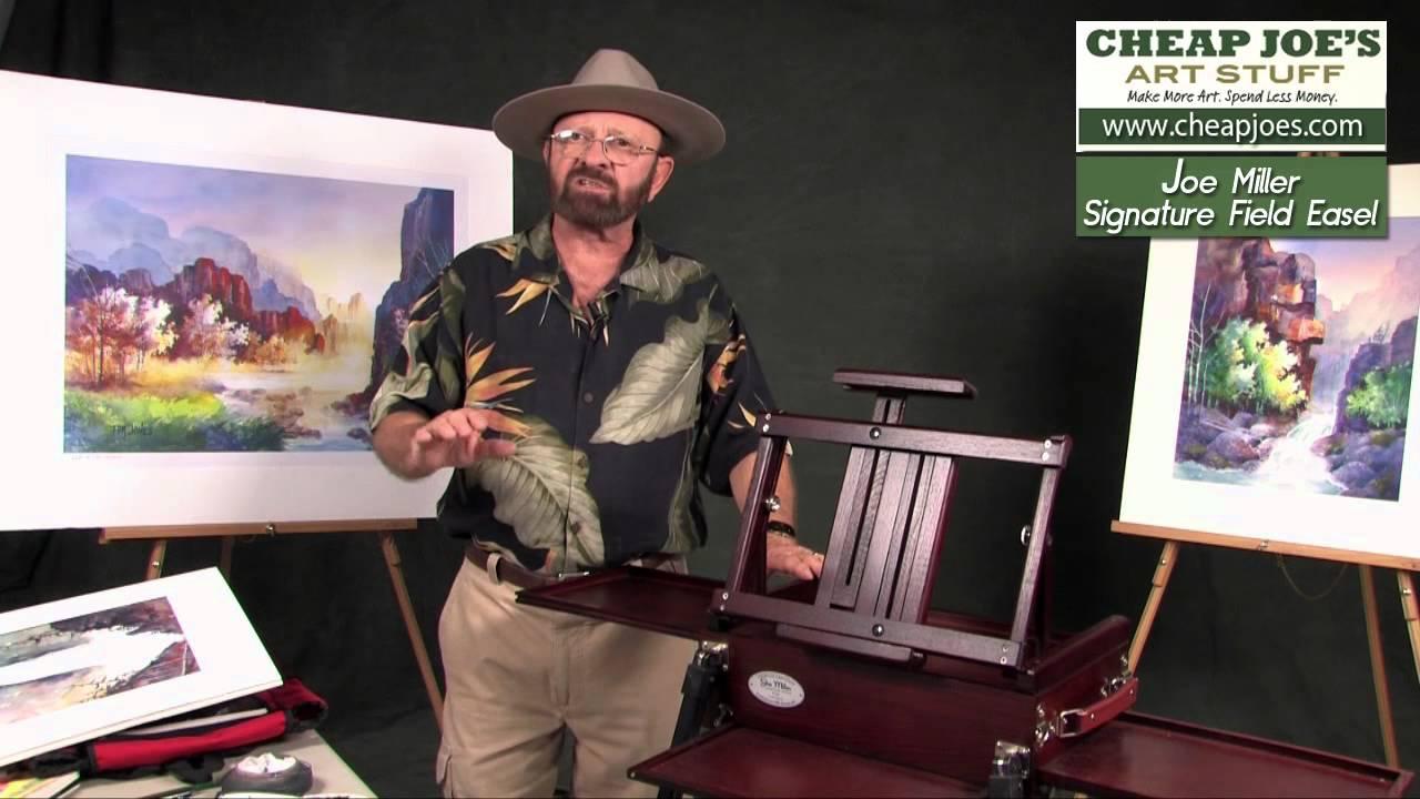 tom jones demonstrating the joe miller signature field easel youtube