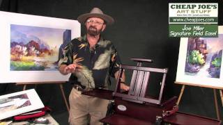 Tom Jones-demonstrating The Joe Miller Signature Field Easel