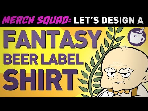 Artists Design Fantasy Beer Label Shirts