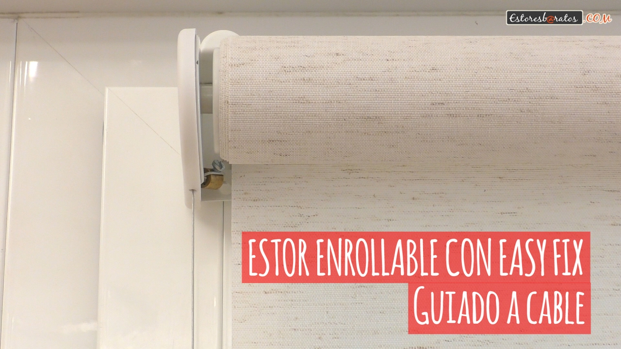 Cortinas Enrollables Ikea Estor Enrollable Sin Taladrar Guiado A Cable - Youtube