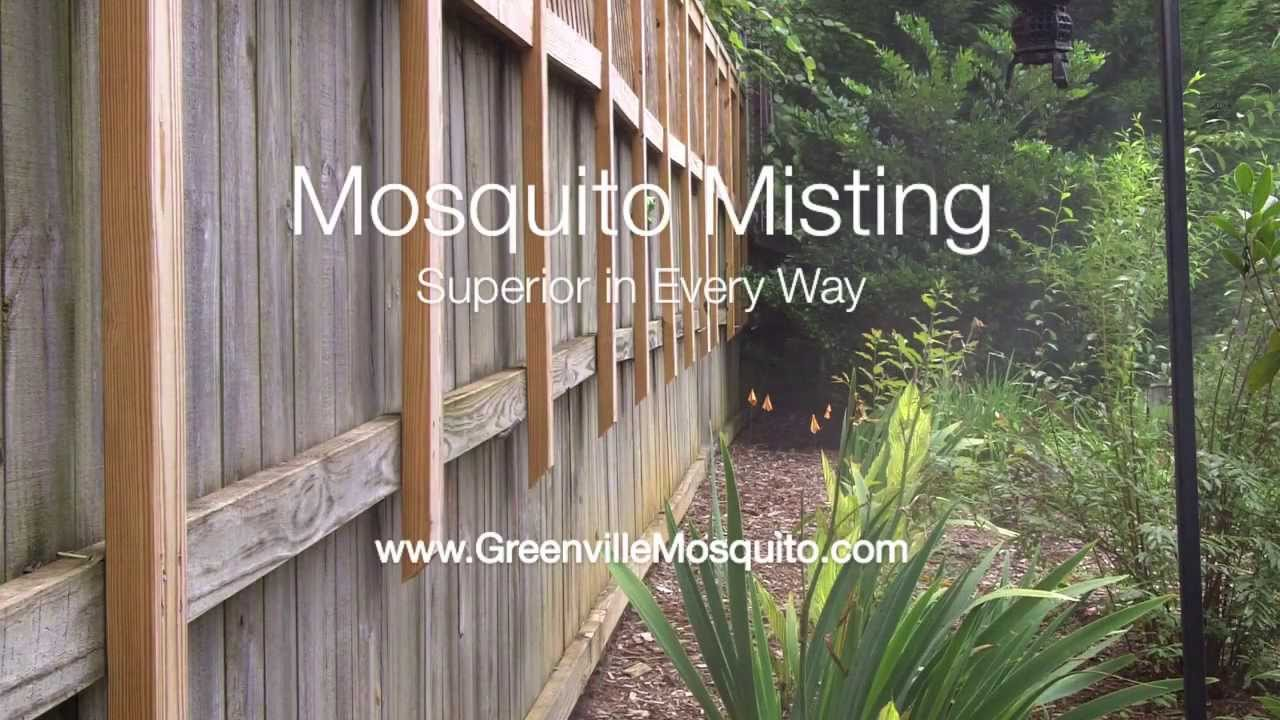 Mosquito Misting Example (Wood Fence) - MistAway Mosquito Misting