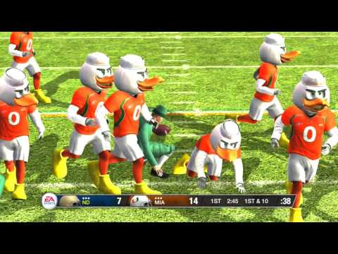 NCAA Football 09 Mascot Game Notre Dame vs Miami