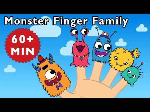 Finger Family   Monster Finger Family and More   Nursery Rhymes from Mother Goose Club!