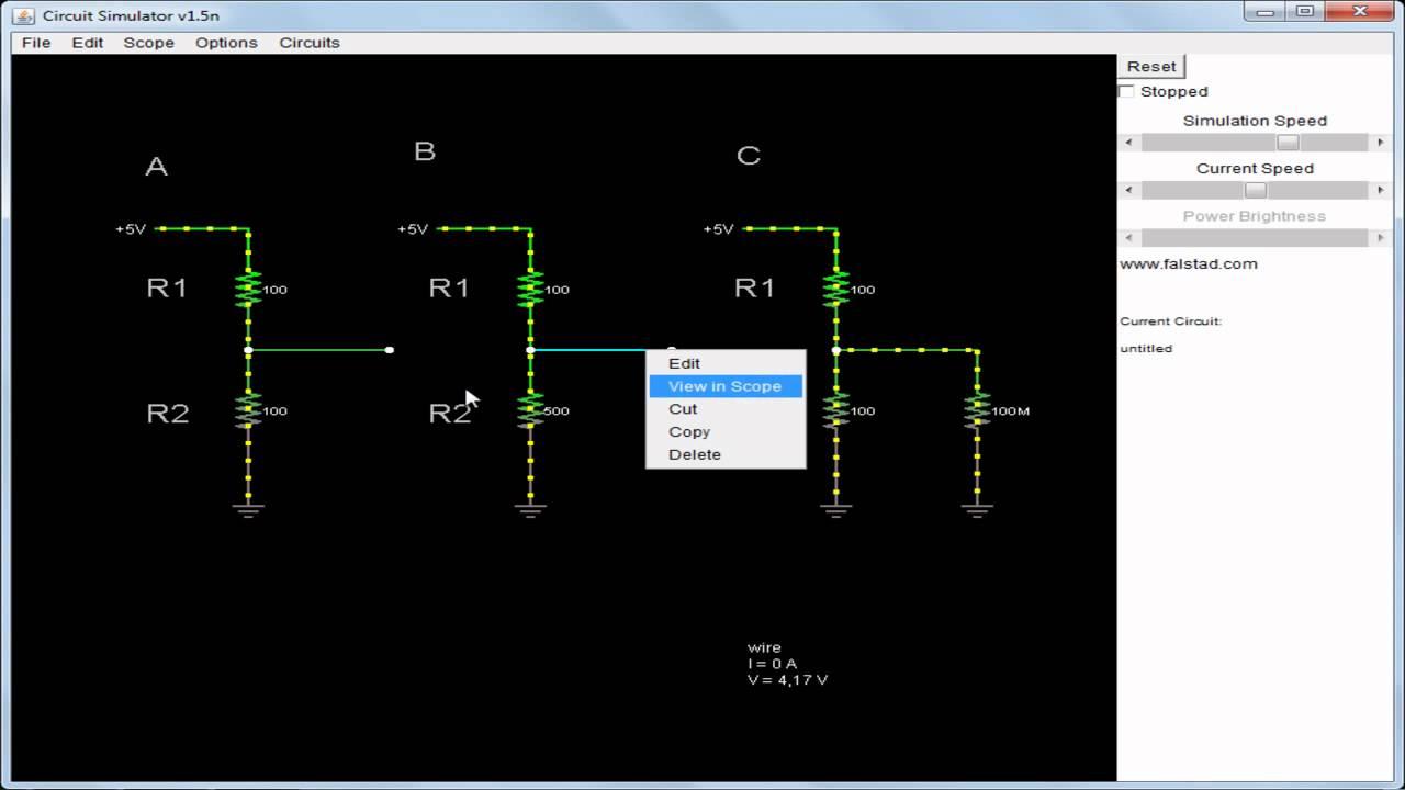 Simulador De Circuitos Circuit Simulator Divisor De Tenso