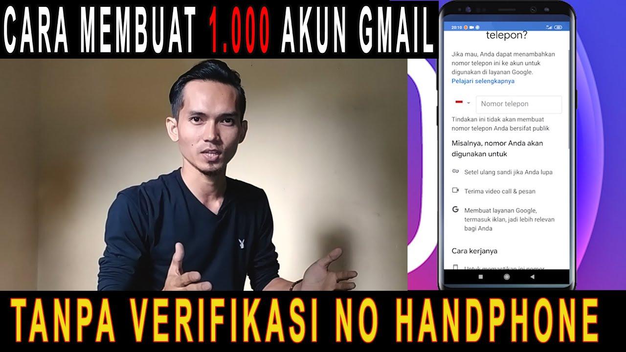 cara membuat akun gmail tanpa verifikasi no handphone mudah sekali