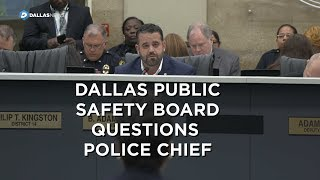Dallas police chief questioned on violence in Dallas by city council members