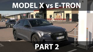 Model X vs e-tron 1000 km challenge part 2