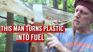 THIS SELF SUFFICIENT FAṀILY MAKES THEIR OWN FUEL FROM PLASTIC!