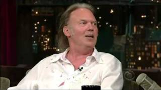 Neil Young's Appearance on Late Night with David Letterman July 2008