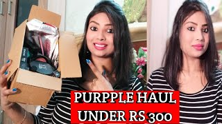 Purplle haul 2018 and makeup || First Impression