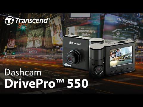 กล้องติดรถยนต์ Transcend DrivePro 550 กล้องคู่ 2 เลนส์ Wi-Fi+GPS