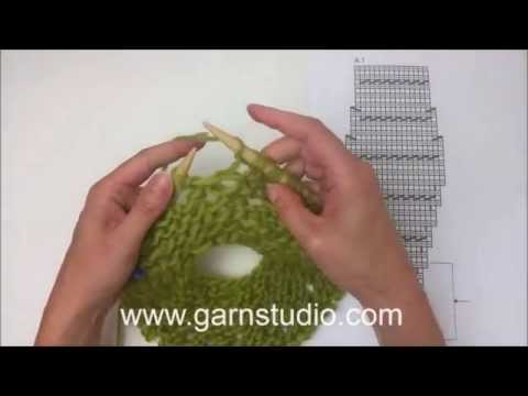 How to knit A.1 in DROPS 166-34