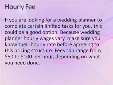 how much does a wedding planner cost youtube