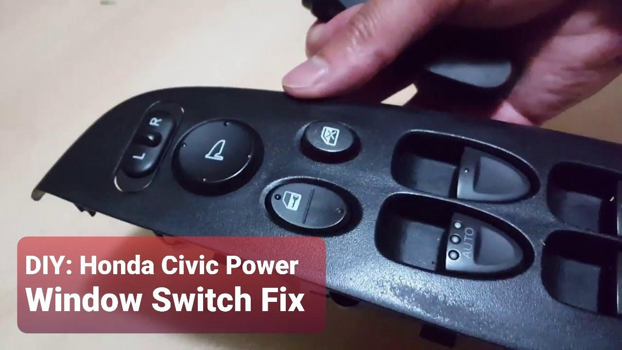 Diy honda civic power window switch fix how to fix a for 1993 honda civic window trim