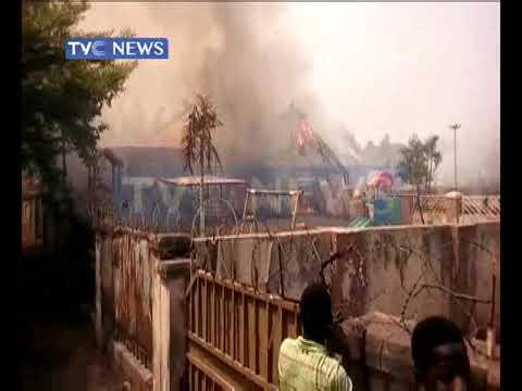 Fire razes shops in Awka, Blue Berry Park in Enugu