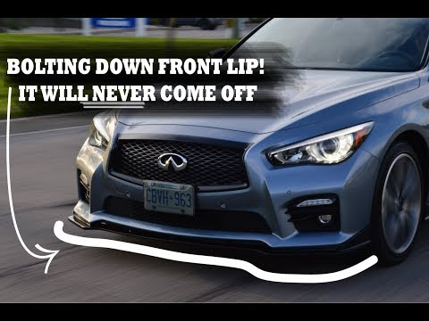 Putting On The Sport Front Lip On The INFINITI Q50