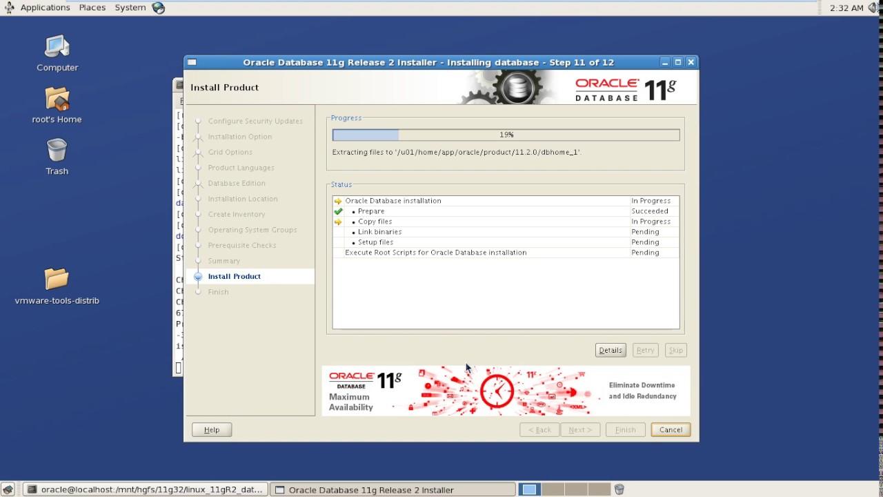 download oracle 11g 32 bit linux