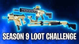 SEASON 9 LOOT CHALLENGE! 🔥   Fortnite: Battle Royale
