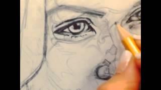 Рисую портрет Усмановой