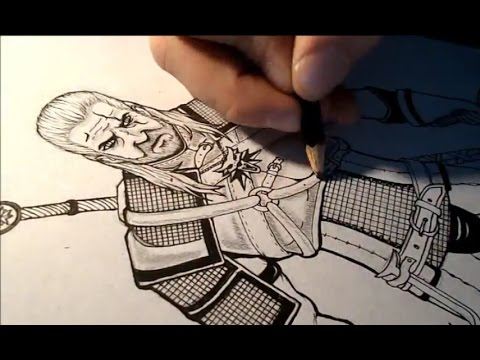 How To Draw The Witcher Geralt Of Rivia Youtube