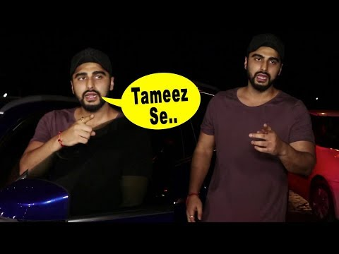 Arjun Kapoor ANGRY At Media Photographer For MISBEHAVING