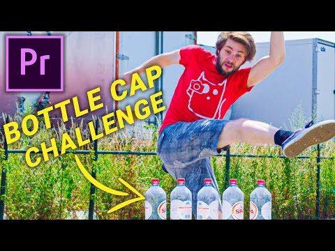 FAKE the BOTTLE CAP CHALLENGE (Premiere Pro)