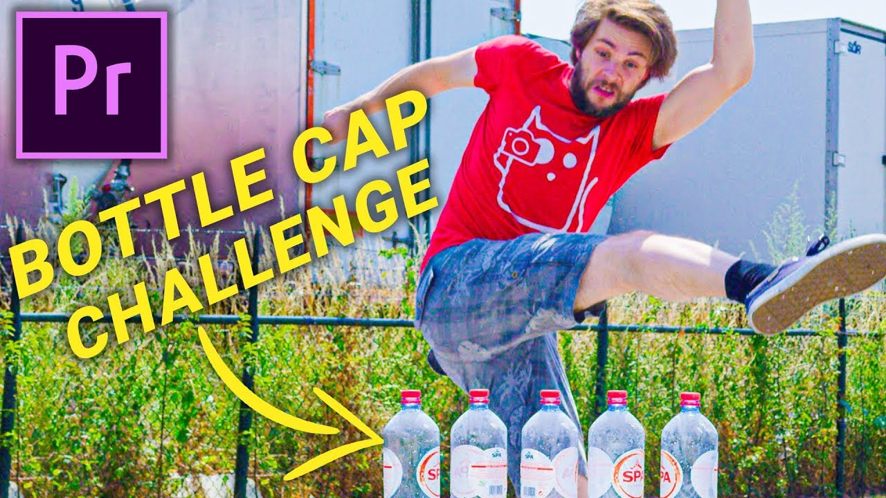 FAKE the BOTTLE CAP CHALLENGE (Premiere Pro)