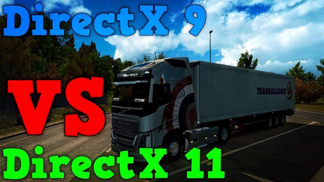 Euro Truck Simulator 2: DirectX 9 vs DirectX 11