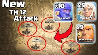 New TH12 Strategy 2019! 10 Bowler + 9 Giant + 5 Healer Queen Walk 3Star TH12 War Clash of Clans