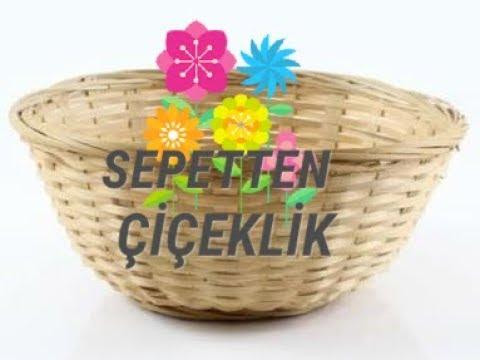 Sepetten çiçeklik yapımı  | flower basket