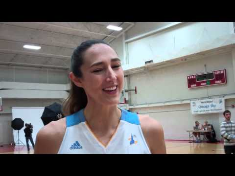 Ruth Riley at Chicago Sky media day 5/7/12