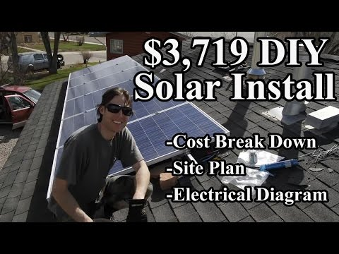 COST BREAKDOWN SOLAR PANELS DIY ARRAY ENPHASE MICROINVERTERS 1.47 KW SYSTEM