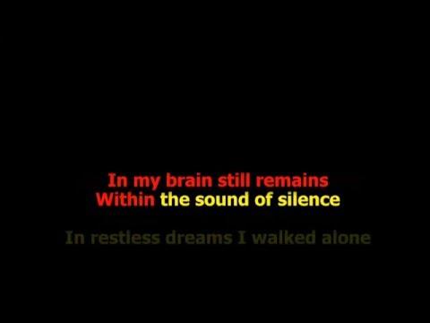 THE SOUND OF SILENCE KARAOKE tonalità DONNA