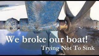Diver discovers broken cutlass bearing!