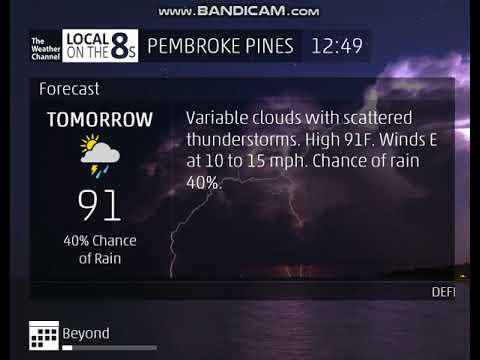 The Weather Channel - Local on the 8s - Pembroke Pines, Florida - 8/30/2018