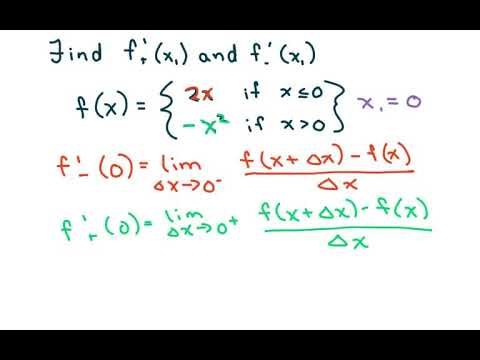 How To Find The Derivative Of a Piecewise Defined Function at f(0)