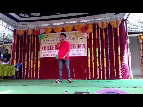 Indian boy sings Justin biebers 'Baby' cover by 'pramod' in college I