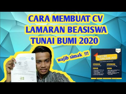Tips Trik Cara Membuat Cv Lamar Beasiswa Tunai Bumi 2020 Panduan Ada Di Link Descripsi Video Youtube