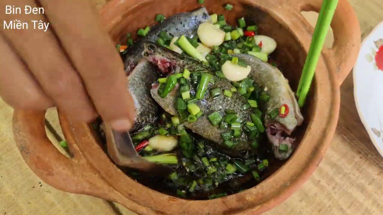 Béo bán gà Bin giăng câu bằng chai nhựa. Cơm quê cá kho, mướp luộc, canh bí – Bin Đen Miền Tây #60