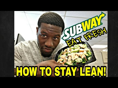 HOW TO STAY LEAN! EATING SUBWAY SALAD VLOG