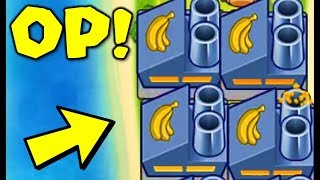 when the banana farm is OP in speed mega boosts..... (Bloons TD Battles)