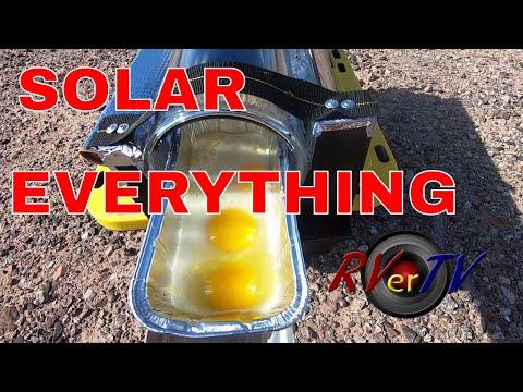 SOLAR EVERYTHING... Solar Cooker...4 Patriot Power Cell...Solar Panel