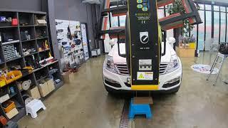 쌍용자동차 렉스턴 RX7 차량의 깨진 정품유리교체 이후…